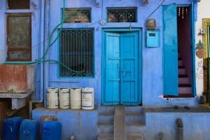 facade-bleue-inde